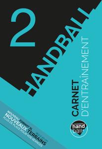 Page de couverture du carnet d'entrainement de Handball N°2 Grand Format