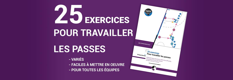 Cahier de 25 exercices pour travailler les passes