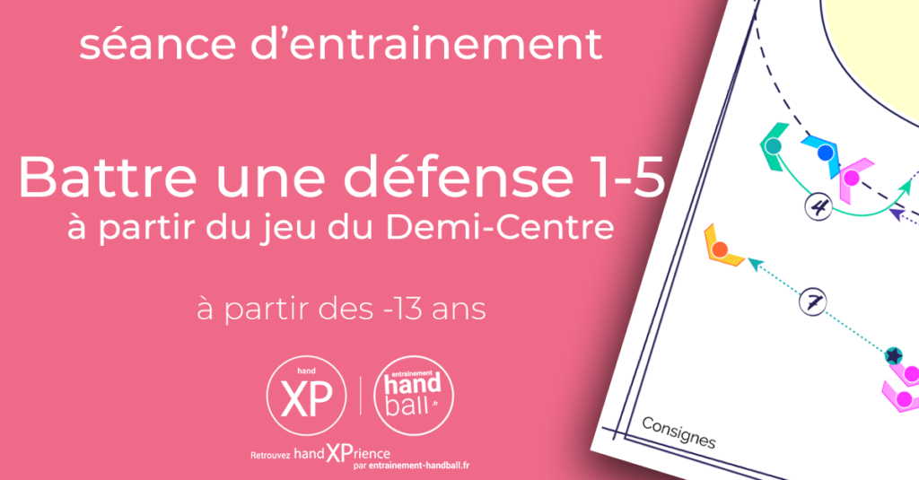Séance d'entrainement de Handball : Battre une défense 1-5 à partir du jeu du Demi-Centre