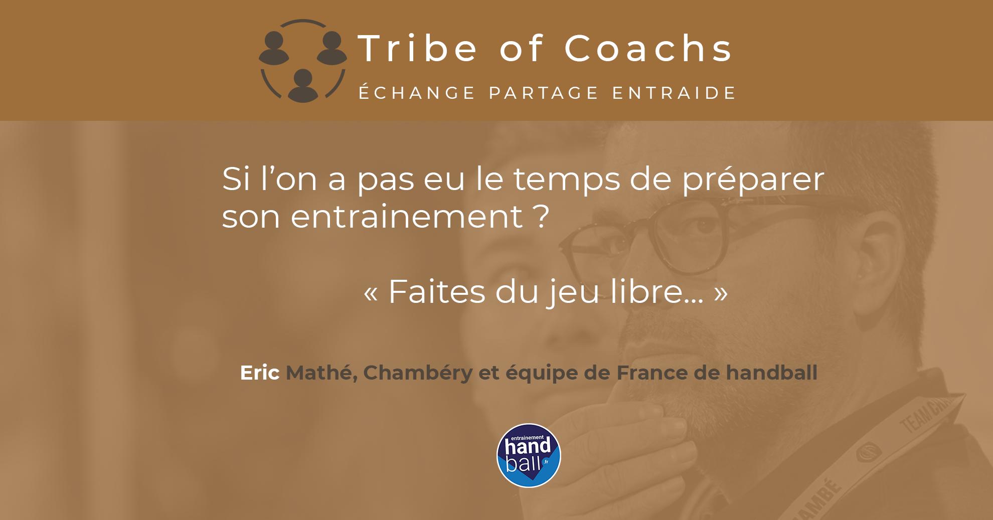 3 Questions à Erick Mathe, entraineur de Chambéry et de l'équipe de France de Handball