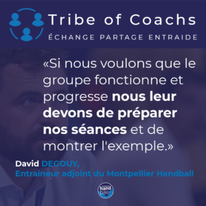 3 question à ... David Degouy, entraineur adjoint du Montpellier Handball