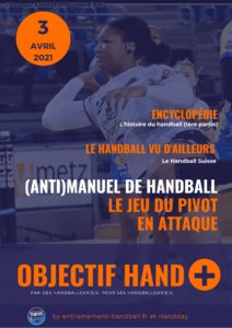 Page 1 du webzine Objectif Hand 03 Avril 2021